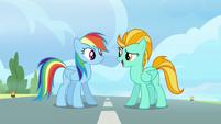 Lightning tells Rainbow her name S3E07