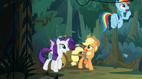Main ponies looking for Fluttershy S8E13