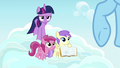 Pegasus fillies ask Rainbow Dash about Daring Do S7E14.png