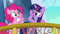 Pinkie Pie and Twilight about to brohoof S3E1.png