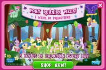 Pony Reunion Week promo MLP mobile game