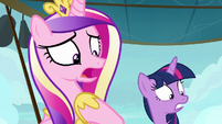 Princess Cadance disturbed by filly's Cadance mask S7E22