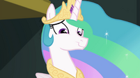 Princess Celestia cracking a smile EGFF