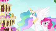 Princess Celestia enticed by cake S2E24