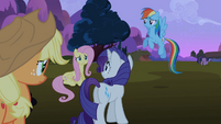 Rarity, Rainbow Dash, Applejack and Fluttershy worried S2E3