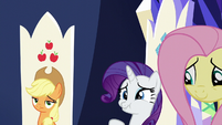 Rarity holding in her laughter S6E1