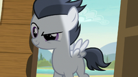 Rumble wearing a sly smirk S7E21