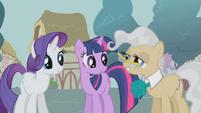 S01E04 Rarity i Twilight rozmawiają z panią burmistrz