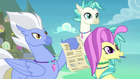 Silverstream's family signs her permission slip S9E3