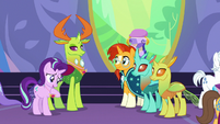 Starlight accepting praise from her friends S7E1