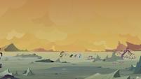 Starlight and company walk across the wasteland S6E25