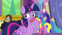 Twilight nervously sipping some punch S7E1