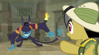 Ahuizotl cuts off Daring Do's escape S9E21