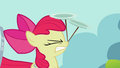 Apple Bloom cringing with plates S2E06.png