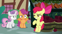 Apple Bloom making a 'cool' pose S9E23