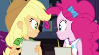 Applejack and Pinkie Pie looking confident EGDS6