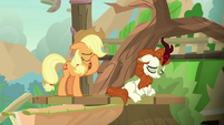 Applejack face-hoofs in frustration S8E23