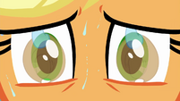 Applejack looking at her hat in sweat BGES1
