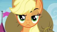 Applejack raising eyebrow S4E22
