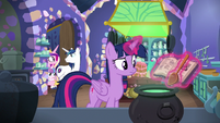 Cadance and Shining join Twilight in the kitchen MLPBGE