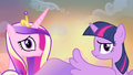 Cadance and Twilight hears Discord S4E11.png