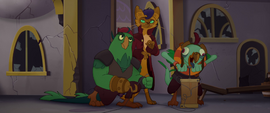 Capper and the pirates readying explosives MLPTM