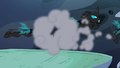 Changeling patrol flies through puff of smoke S6E26.png