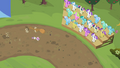 Crowd watching Sweetie Belle and her sister run S02E05.png