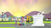 Equestria Girls group hug by the portal EG3