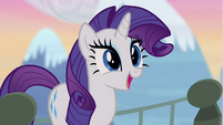 Excited Rarity on bridge S4E03