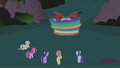 Five friends watch Dash deal with manticore S1E02.png