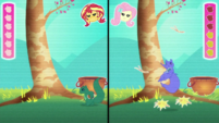 Fluttershy dodges more falling obstacles EGDS34