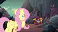 Fluttershy finds Garble and Smolder S9E9