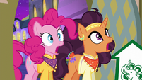 Pinkie Pie and Saffron in stunned shock S6E12