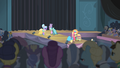 Ponies showing off the Hotel Chic dresses S4E08.png