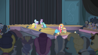 Ponies showing off the Hotel Chic dresses S4E08