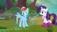 Rainbow -burns off my wing feathers- S8E17