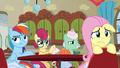 Rainbow Dash annoyed; Fluttershy worried S6E11.png
