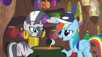 Rainbow Dash asks Zecora for help S9E15