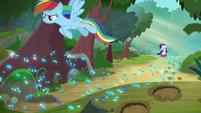 Rainbow Dash follows the Azurantium trail S8E17