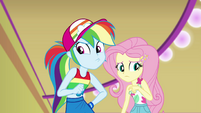Rainbow Dash super-wary; Fluttershy confused EGSB