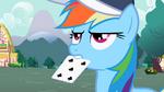 Rainbow Dash with card S2E07