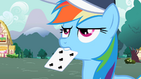 Rainbow Dash with card S2E07