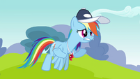 Rainbow Dash worry shrug S2E22