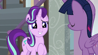 Starlight Glimmer grinning with hope S8E12