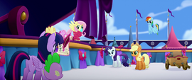 Twilight and Spike joining their friends MLPTM