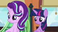 Twilight and Starlight listening to Spike S6E16