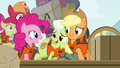 AJ and Granny smiling for Pinkie S4E09.png