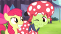 Apple Bloom smiling and Granny winking S4E20.png