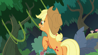 Applejack grabbing another tree vine S8E9